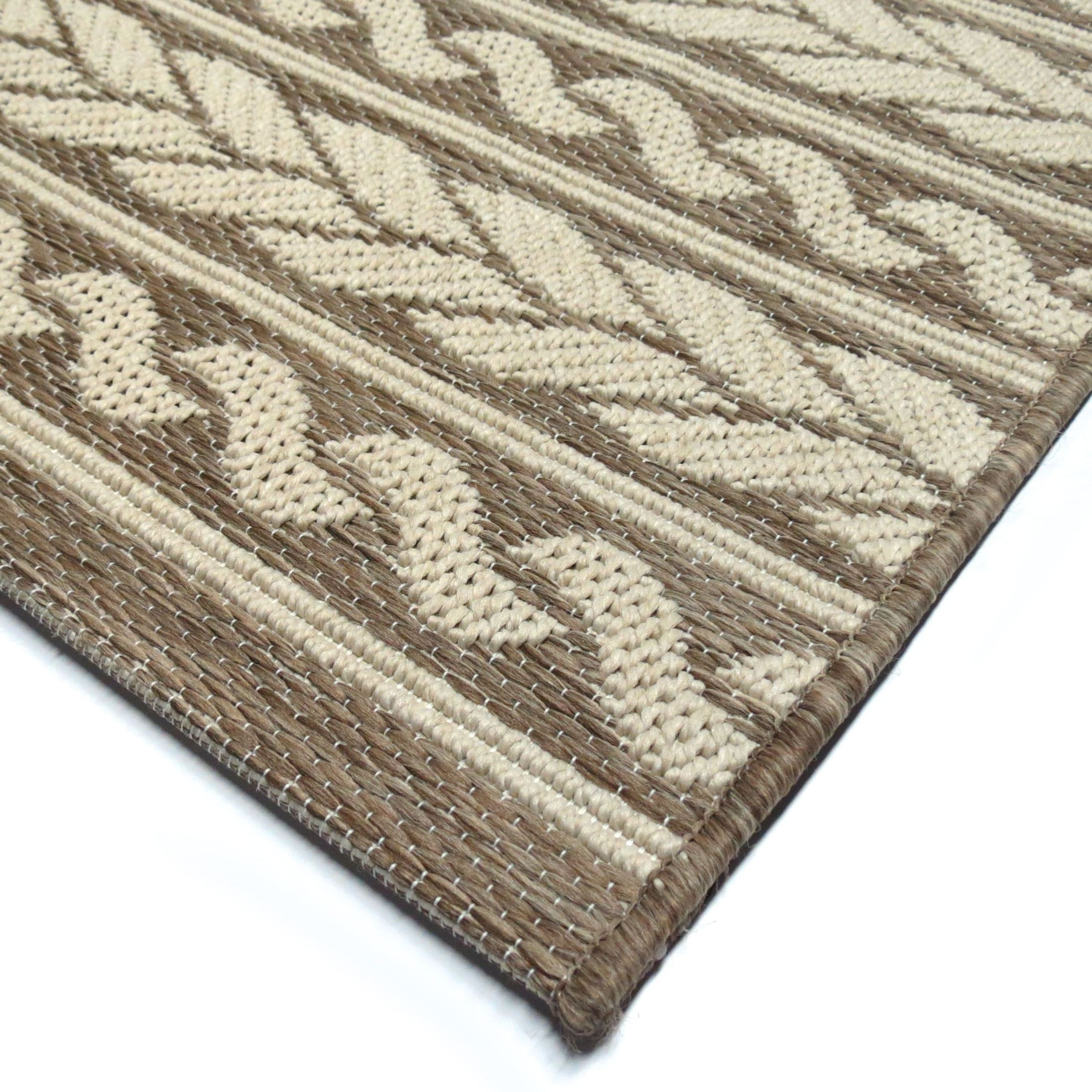 Orian Rugs Indoor Outdoor Knit Cableknots Tan Area