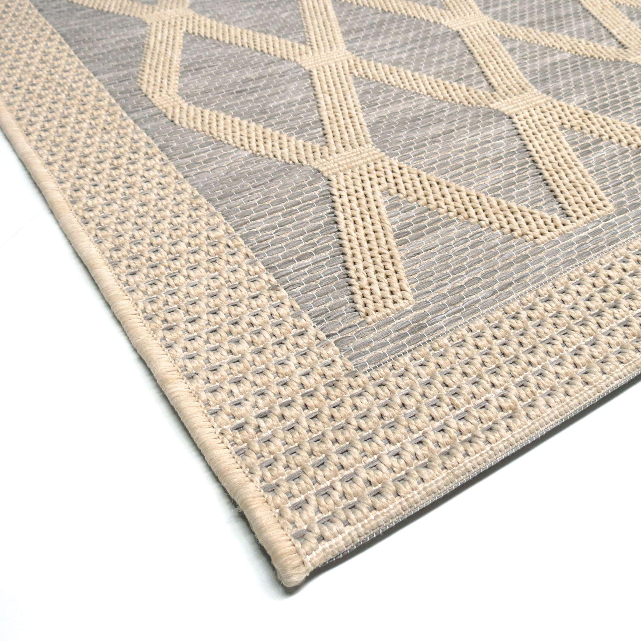 Outdoor 5x8 Area Rug: Orian Rugs Indoor/ Outdoor Diamonds Regal Dimension Gray