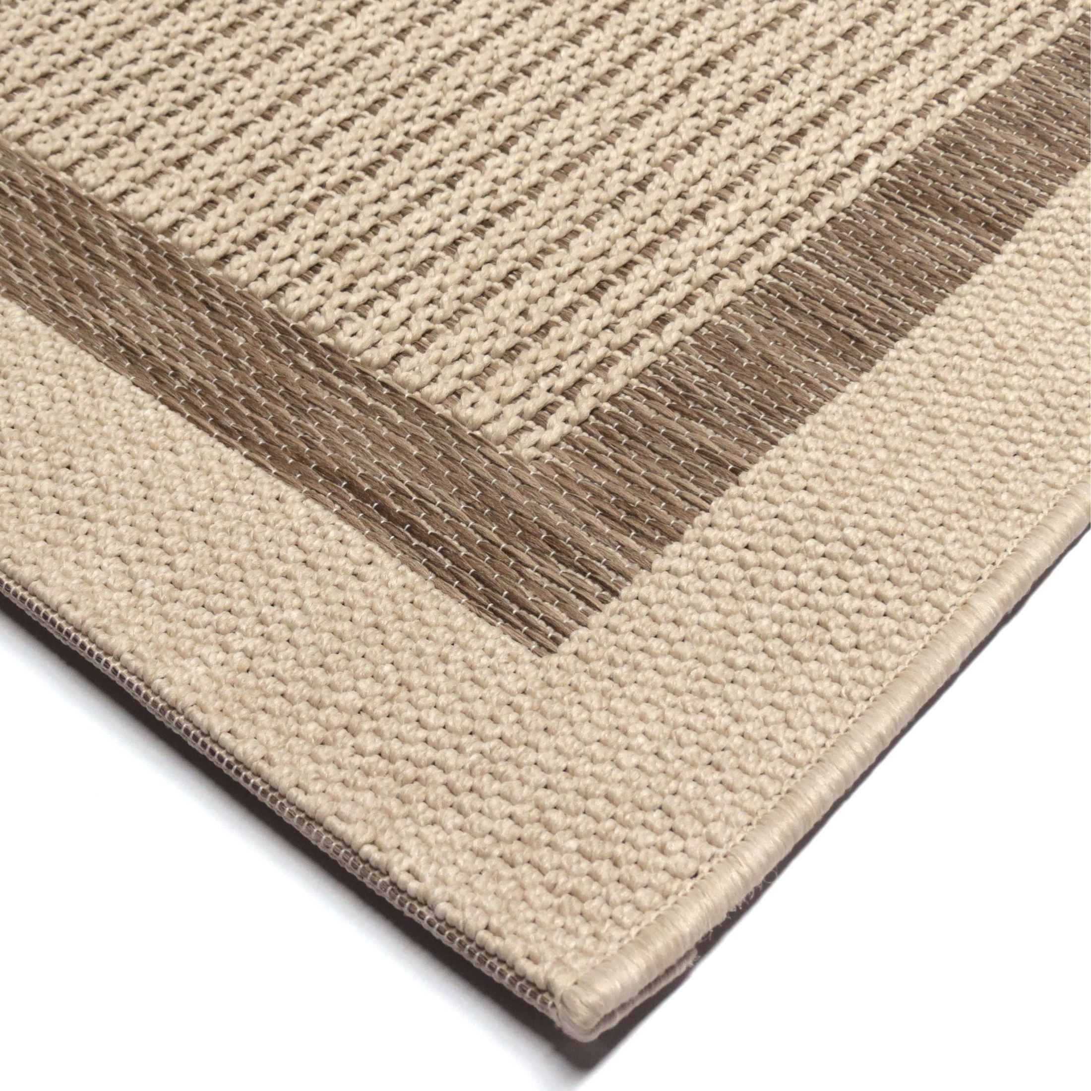 Orian Rugs Indoor Outdoor Border Aviva Tan Area Rug
