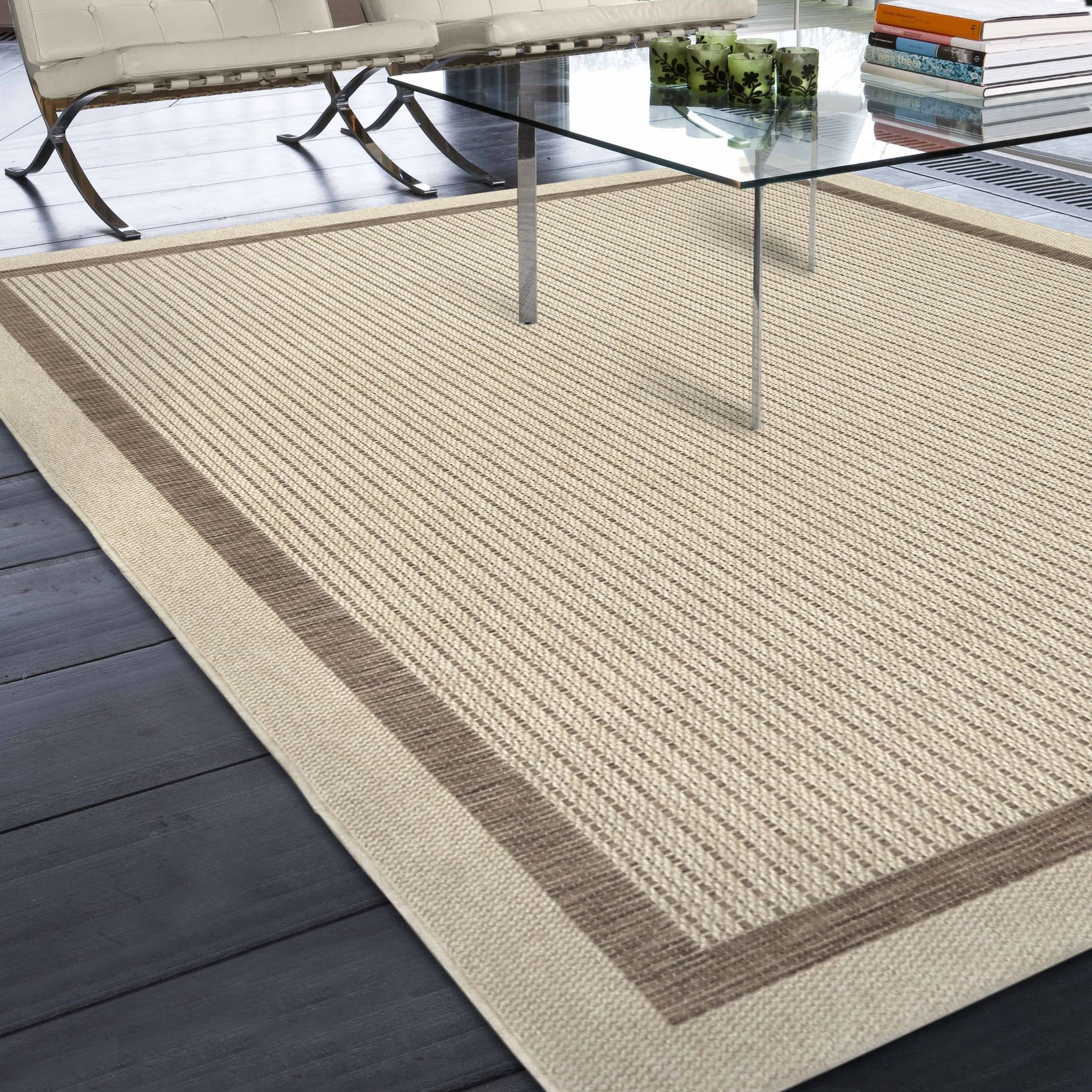 Orian Rugs Indoor Outdoor Border Aviva Tan Area Small Rug