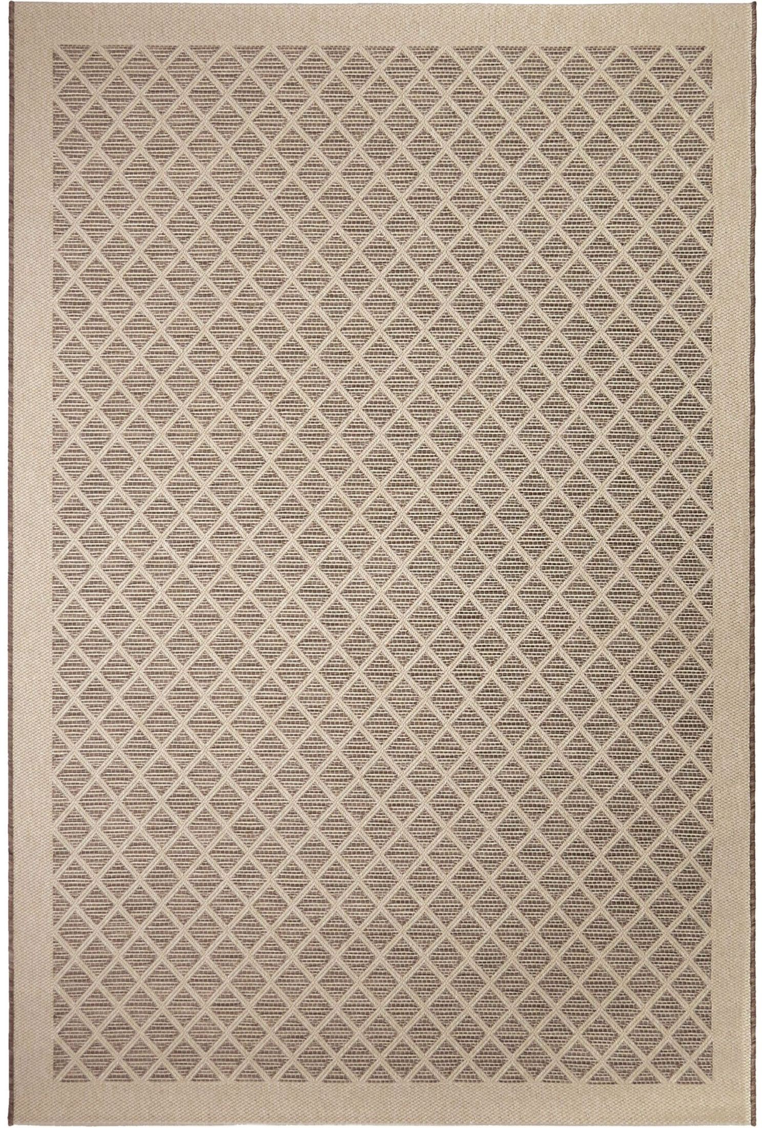 Orian Rugs Indoor Outdoor Squares Fusion Trellis tan Area