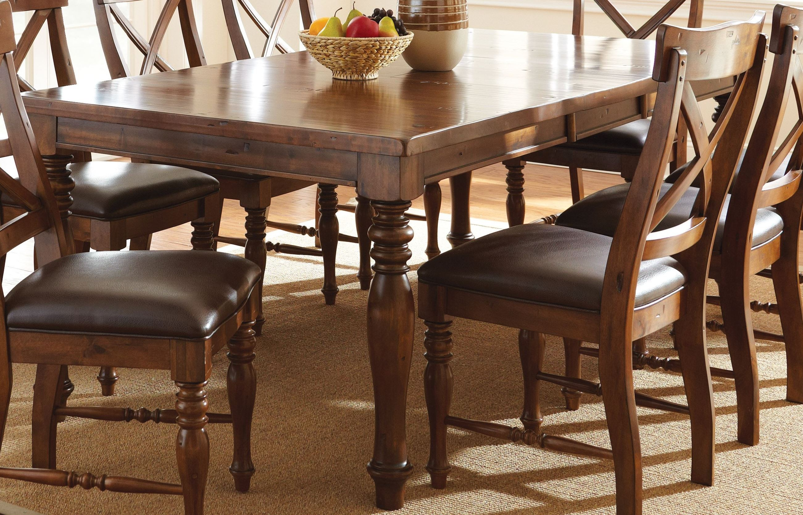 wyndham medium cherry extendable rectangular dining table from steve silver wd500t coleman. Black Bedroom Furniture Sets. Home Design Ideas