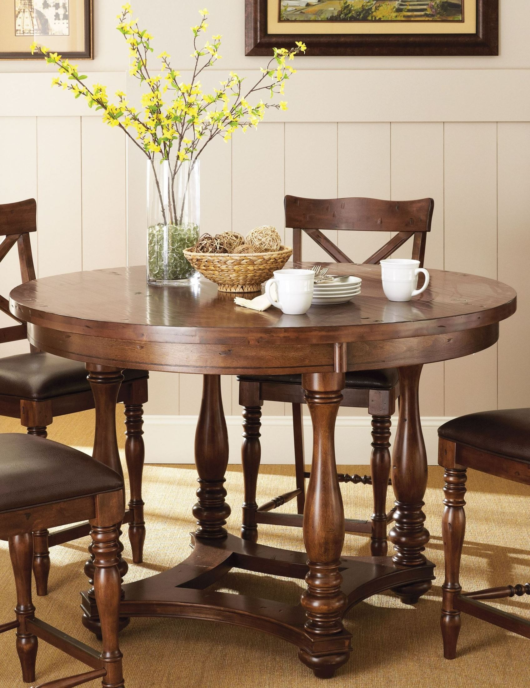 wyndham medium cherry counter height dining table from steve silver wd5454pt coleman furniture. Black Bedroom Furniture Sets. Home Design Ideas