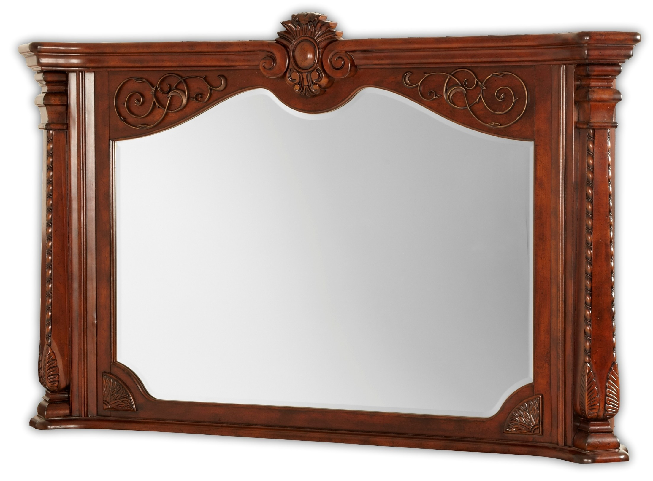 Windsor court fireplace mirror from aico 70227 54 for Fireplace mirrors