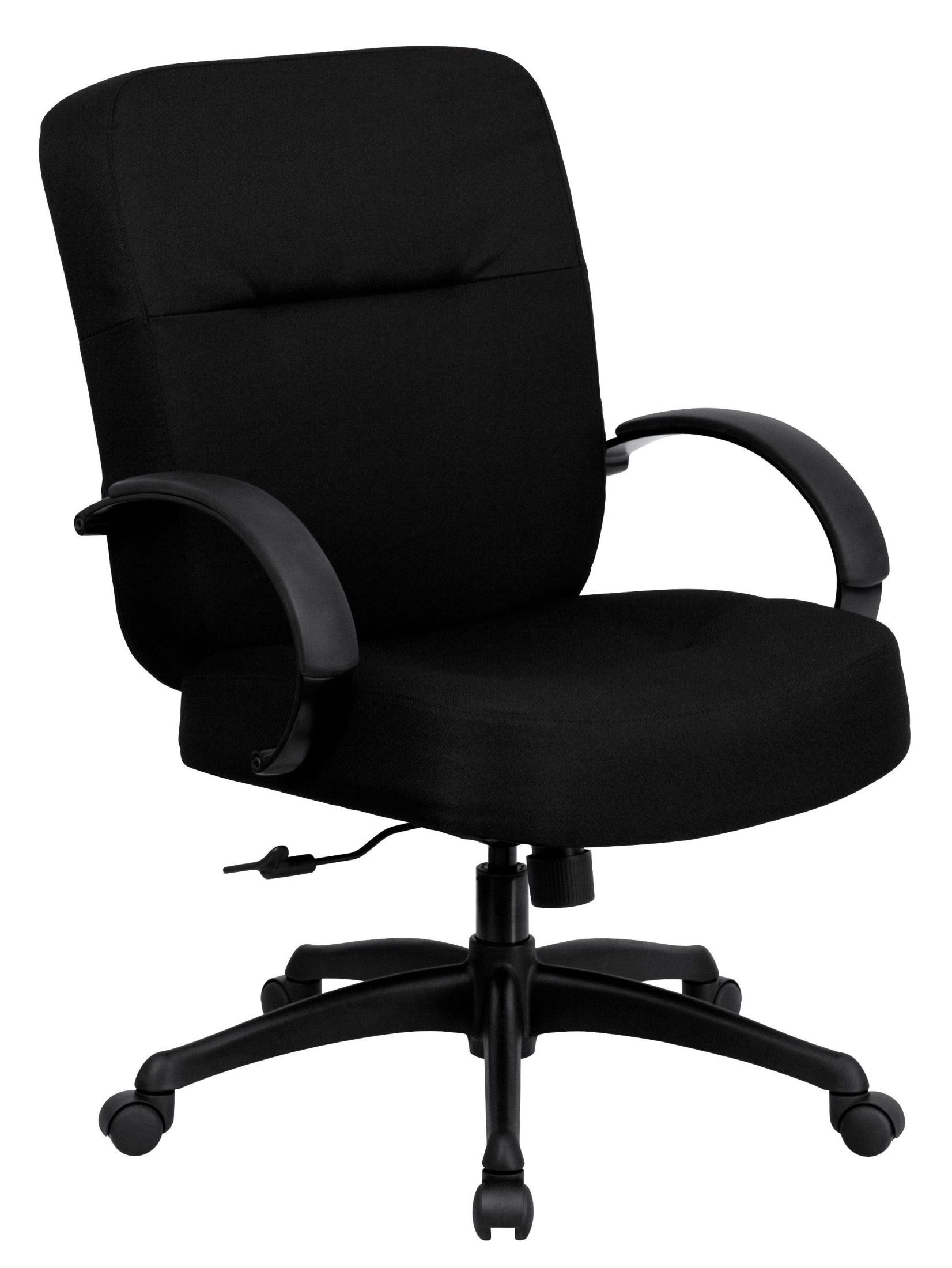 Hercules Series Big Tall Black Fabric Arm Office Chair From Renegade W