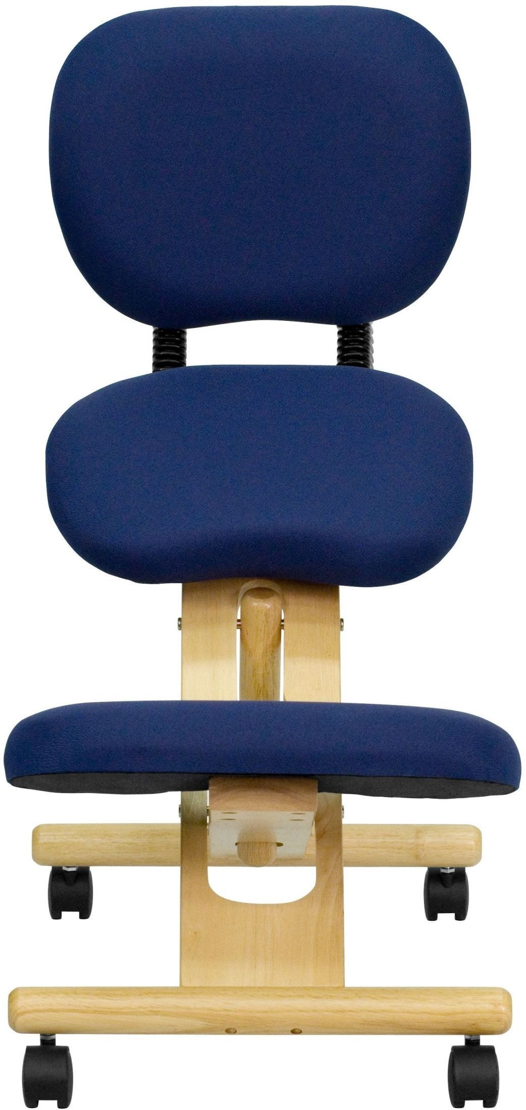 Wood Knee Chair ~ Wooden ergonomic kneeling office chair with reclining back