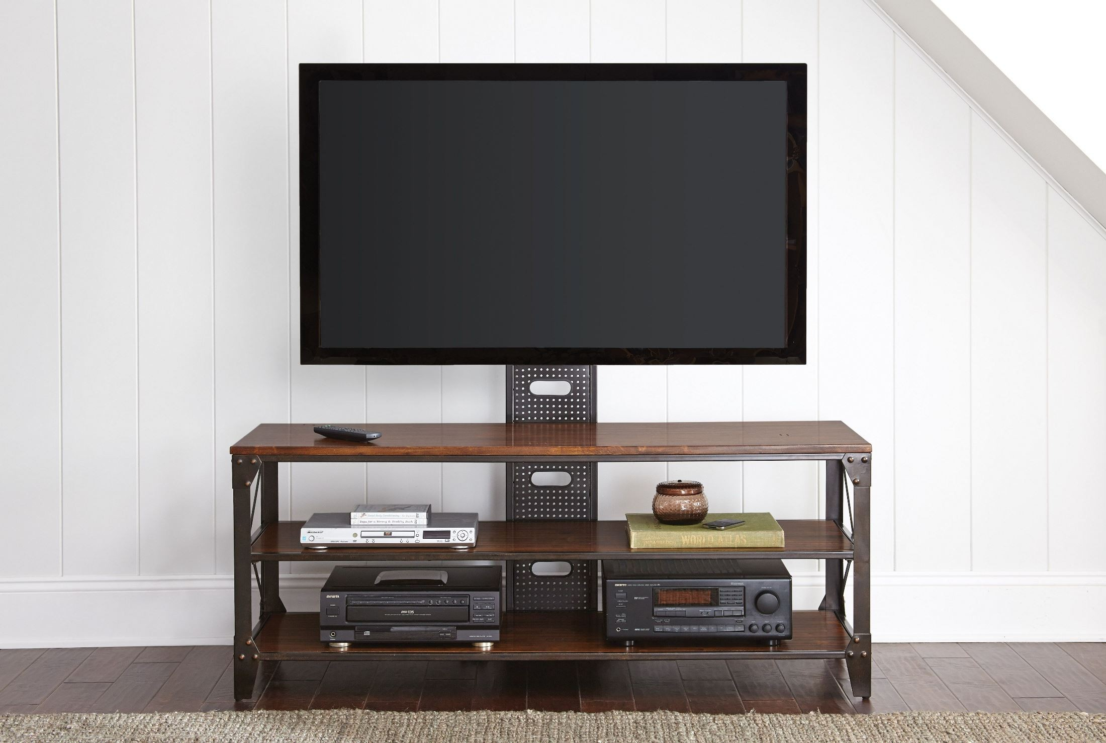 Winston Industrial Tv Stand From Steve Silver Wn500tv