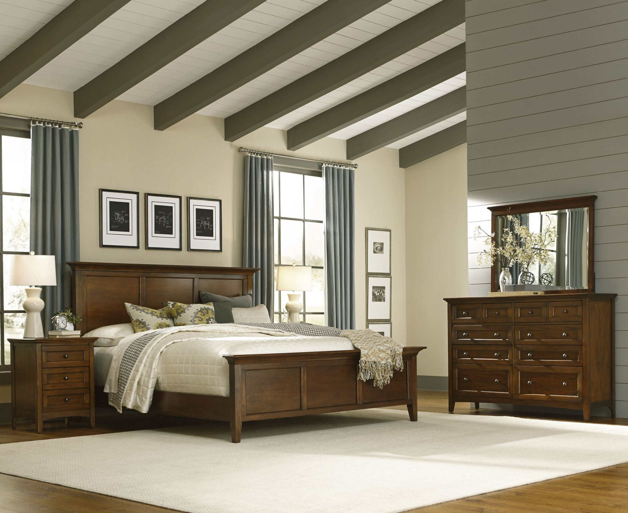 Westlake Cherry Brown Mansion Bedroom Set Wslcb5030 A America