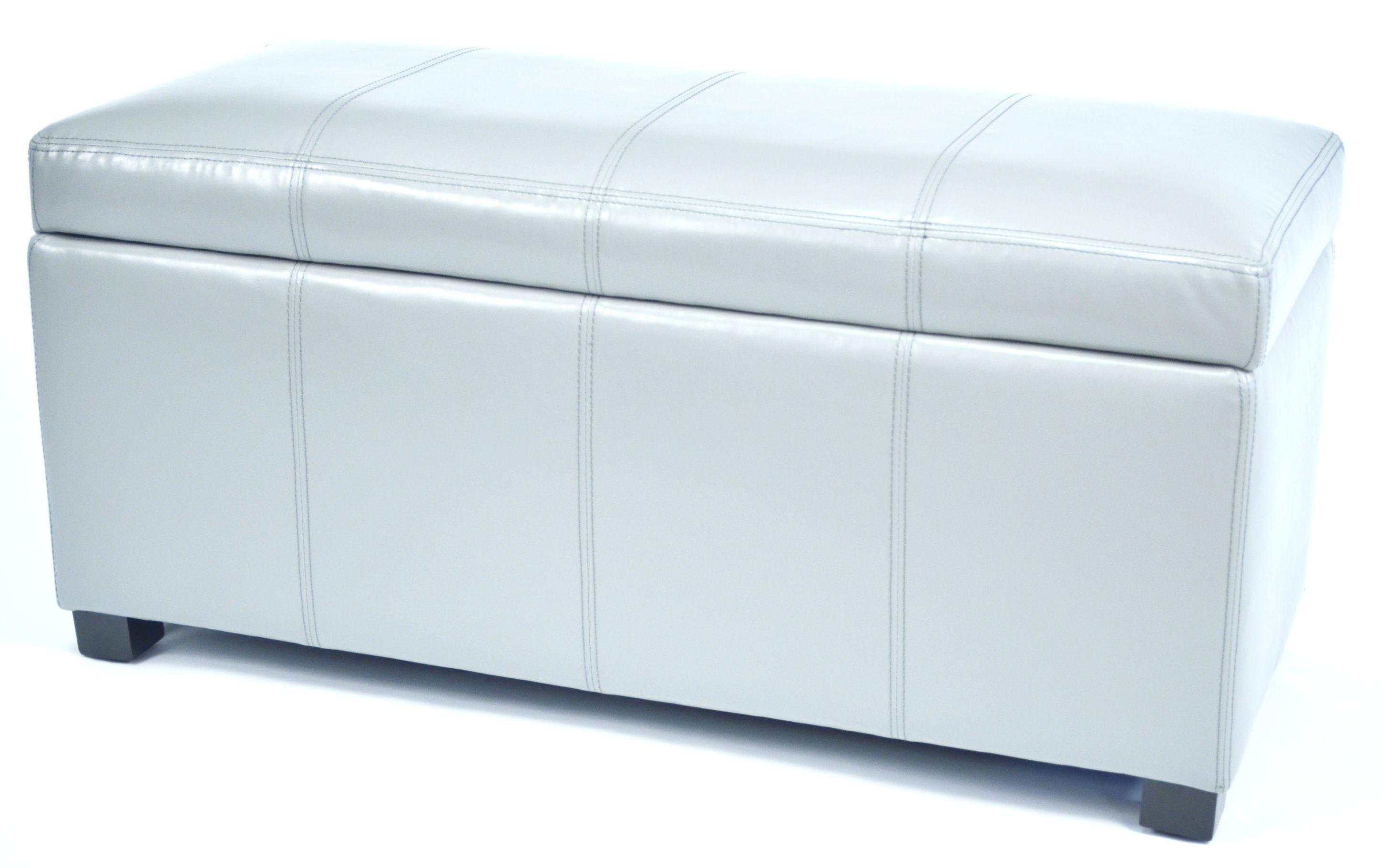 Ariel grey faux leather storage bench wt m1157 grey warehouse of tiffany Gray storage bench