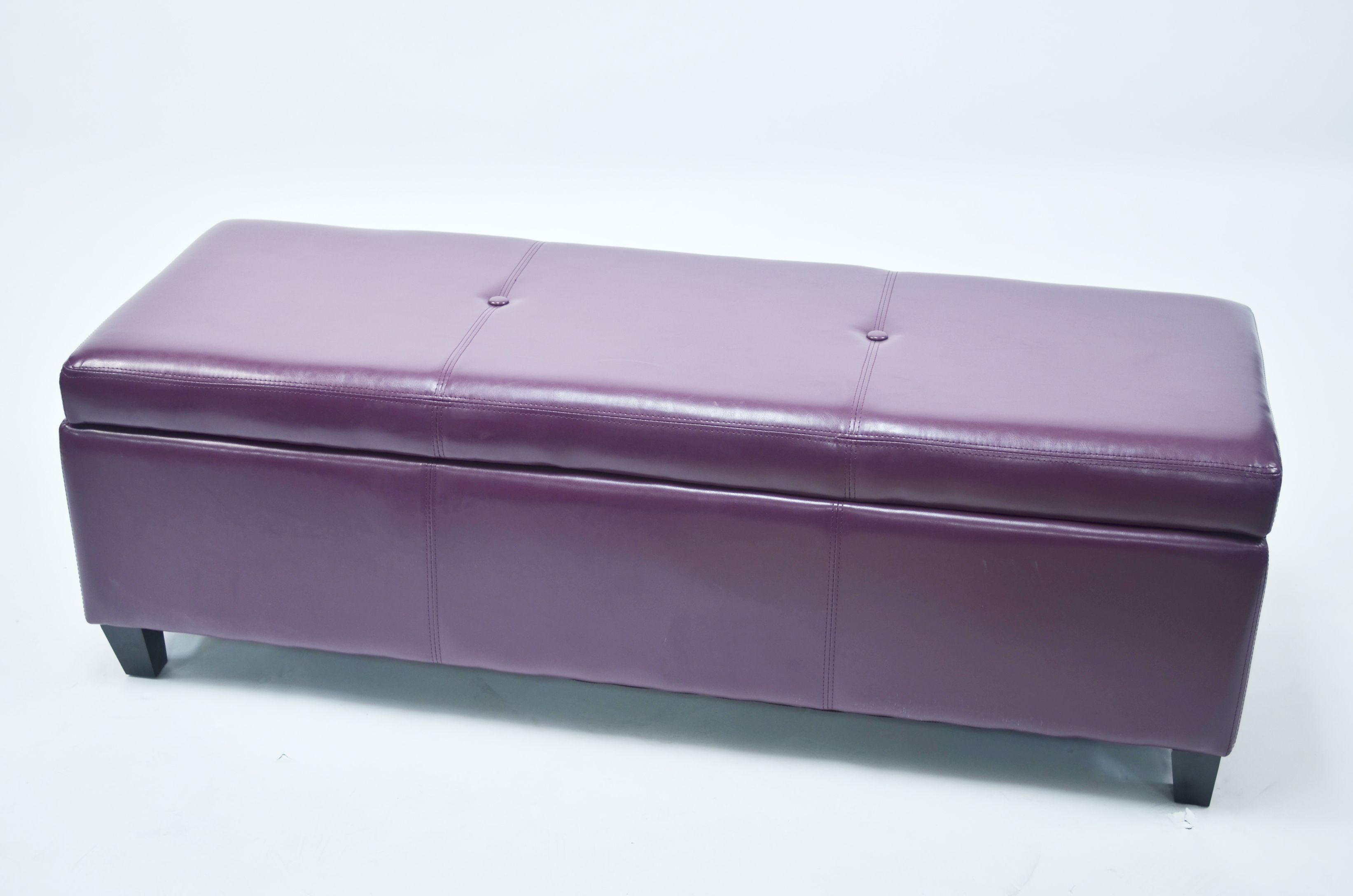 Sharon purple faux leather storage bench wt w7077 purple pu warehouse of tiffany Purple storage bench