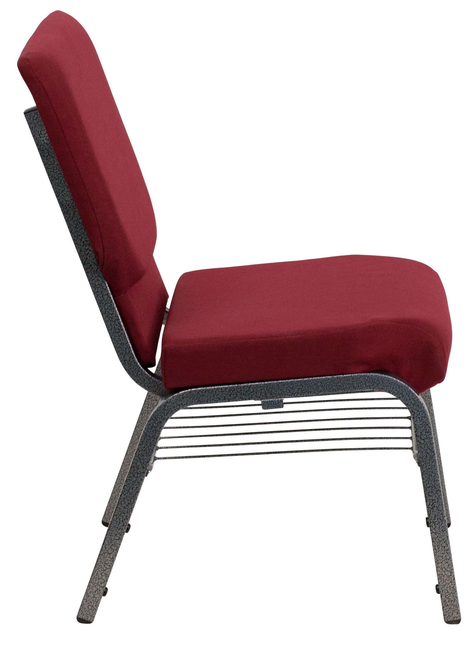 Hercules Series Burgundy Fabric Church Chair From Renegade Coleman Furniture