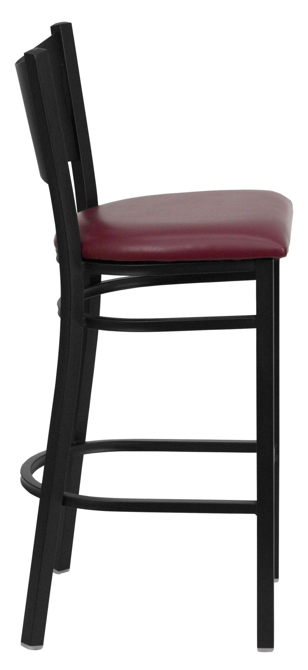 Hercules Series Black Coffee Metal Burgundy Vinyl  : xu dg 60114 cof bar burv gginset1 from colemanfurniture.com size 1012 x 2200 jpeg 145kB