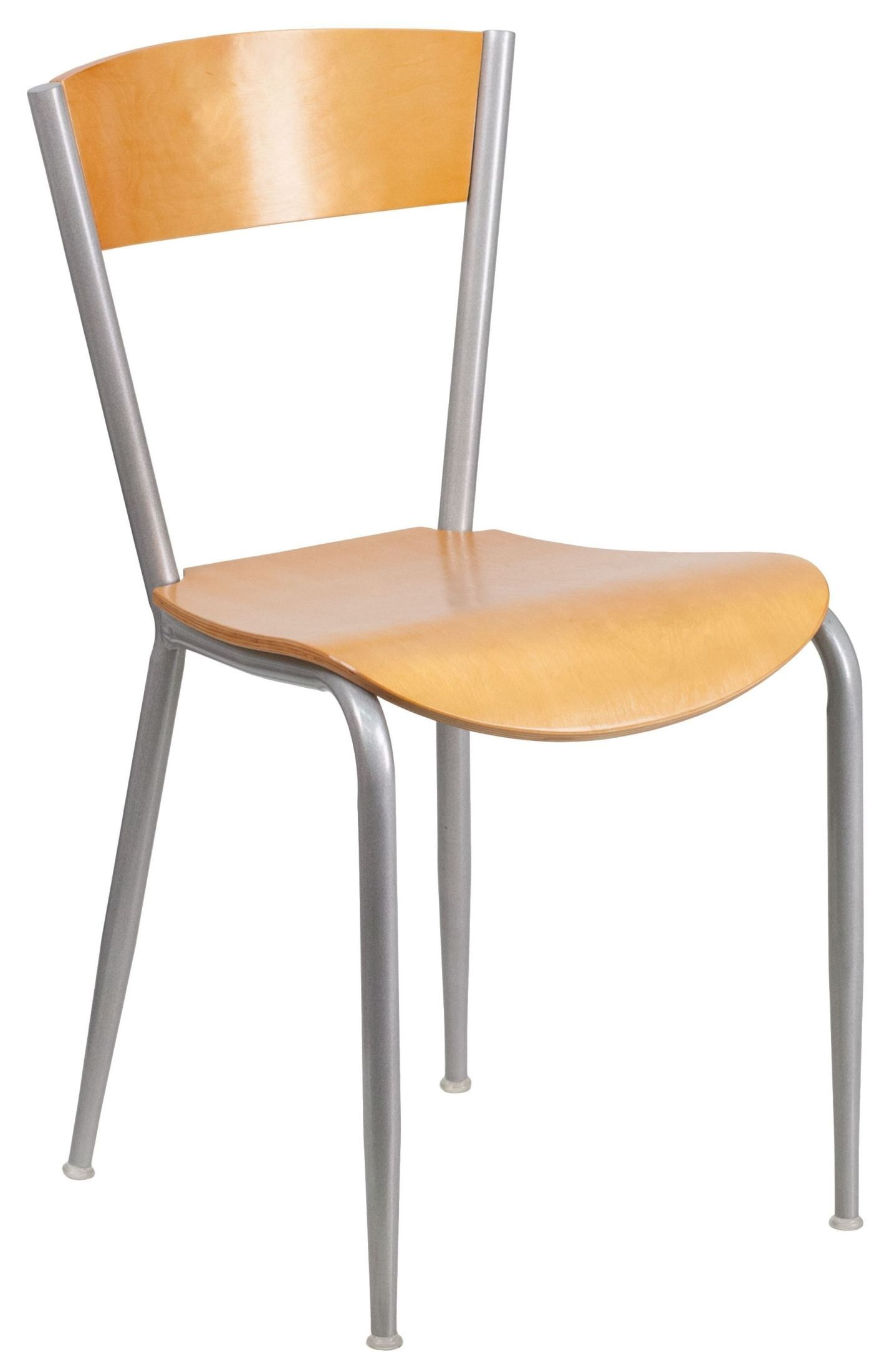 Invincible Series Natural Wood Back Metal Restaurant Chair From Renegade Xu Dg 60217 Nat Gg