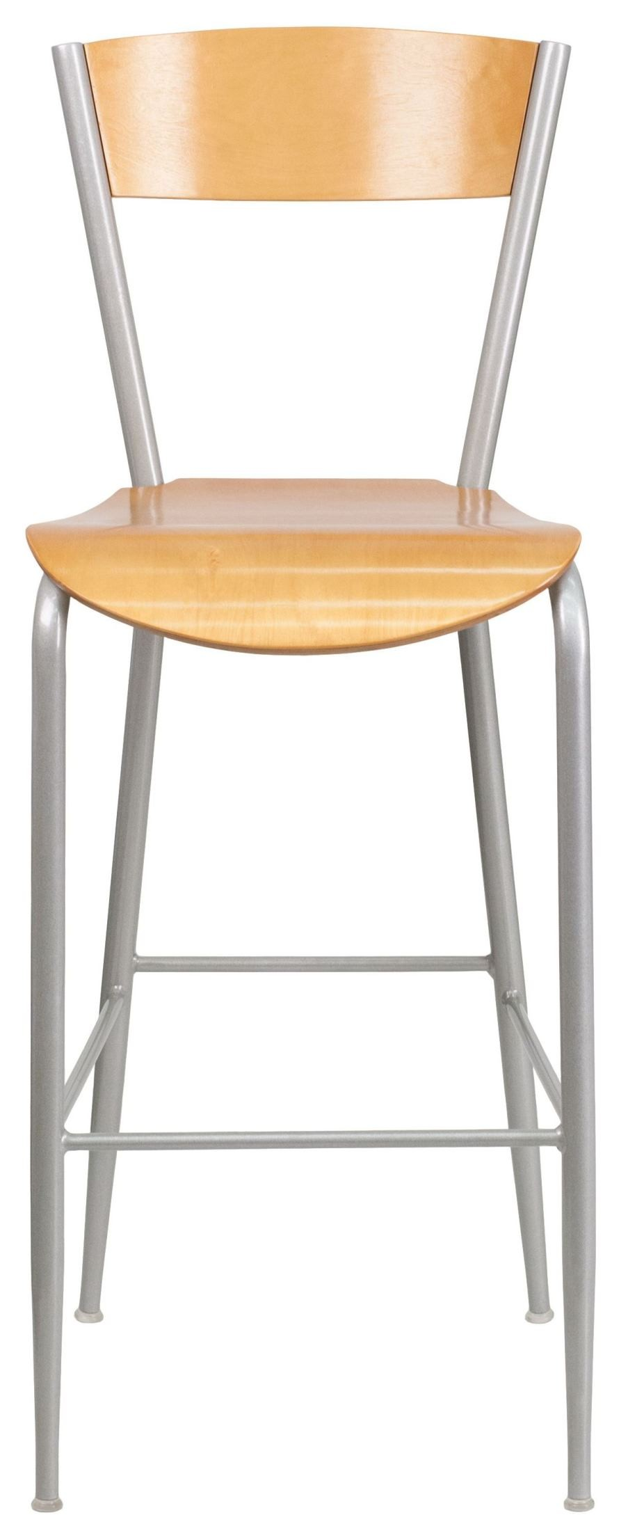 Invincible Series Natural Wood Back Metal Restaurant Barstool From Renegade Xu Dg 60218 Nat Gg