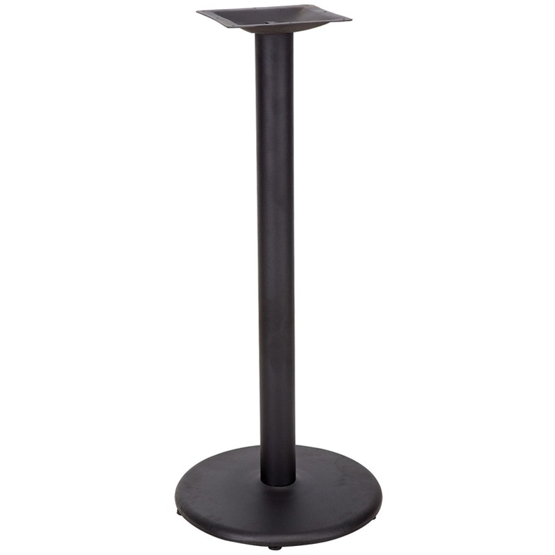 Coffee Height Round Small Table Base Round Column: 18'' Round Restaurant Table Base With 3'' Bar Height