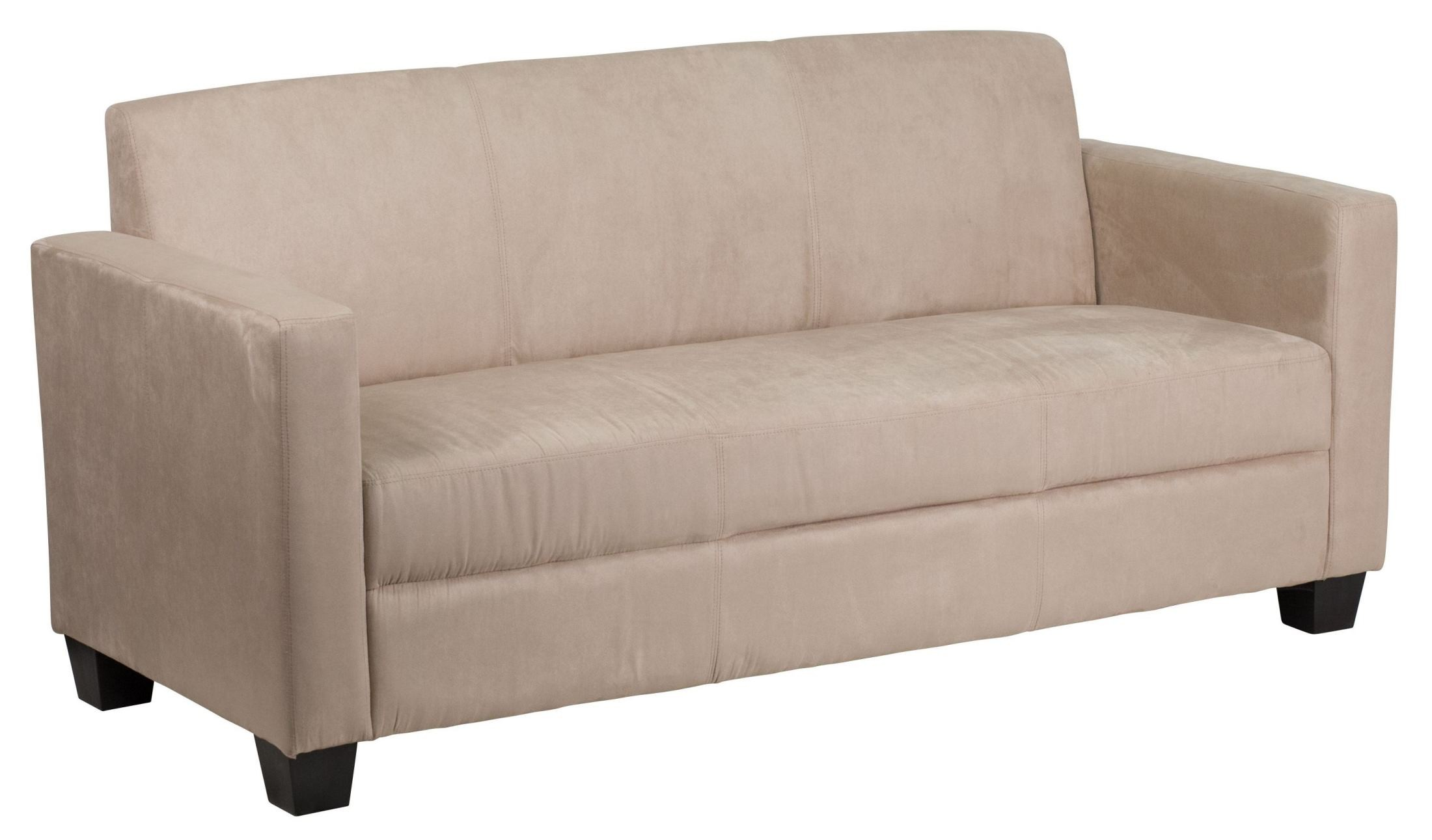 Grand series light brown microfiber sofa from renegade y for Light brown microfiber sectional sofa