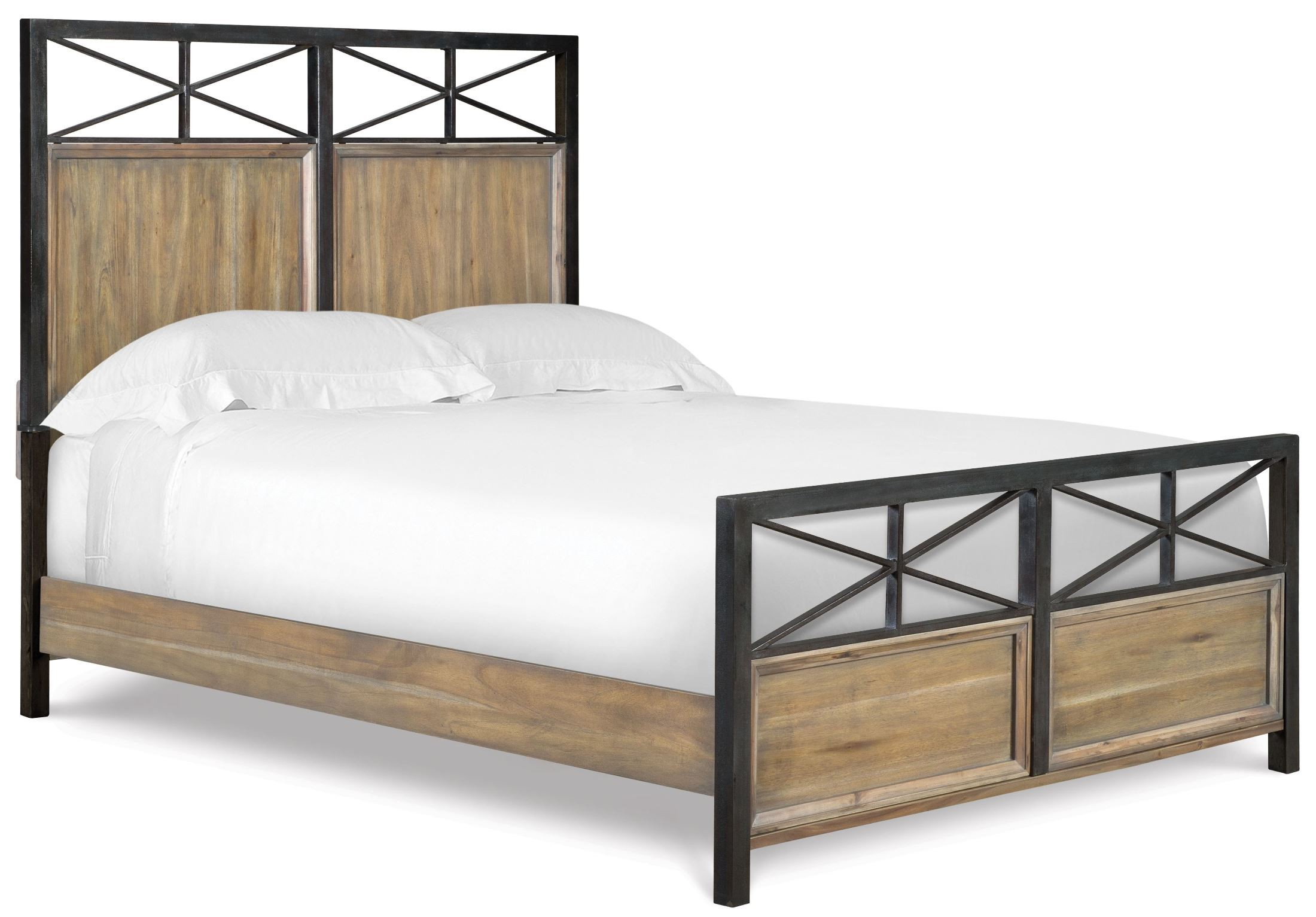 Very Impressive portraiture of  Metal/Wood Panel Bedroom Set Y2159 58H 58F 58R Magnussen Furniture with #81694A color and 2200x1533 pixels