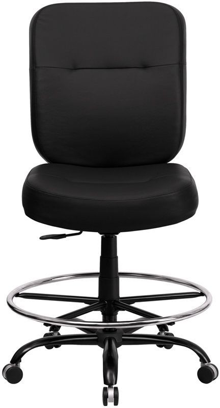 embroidered hercules big tall black drafting chair wl 735syg bk lea