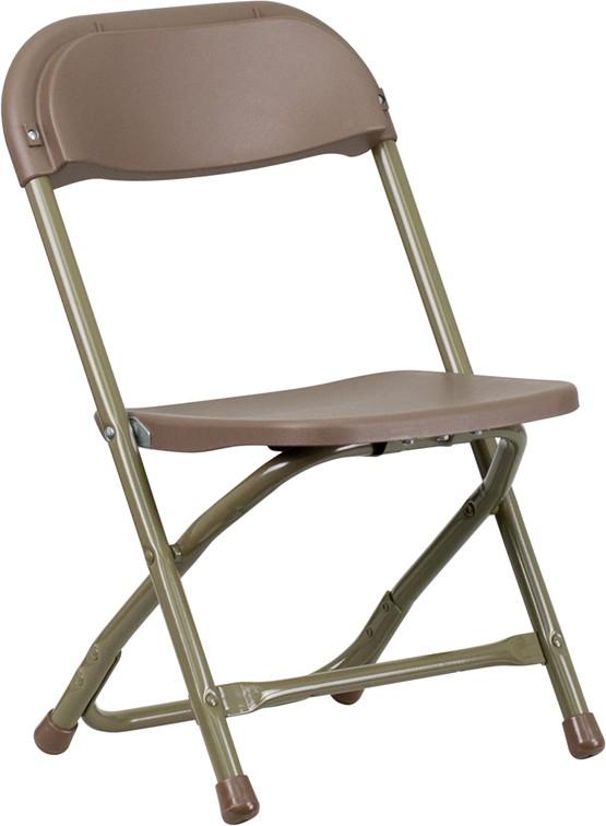 Kids Brown Plastic Folding Chair from Renegade Y KID BN