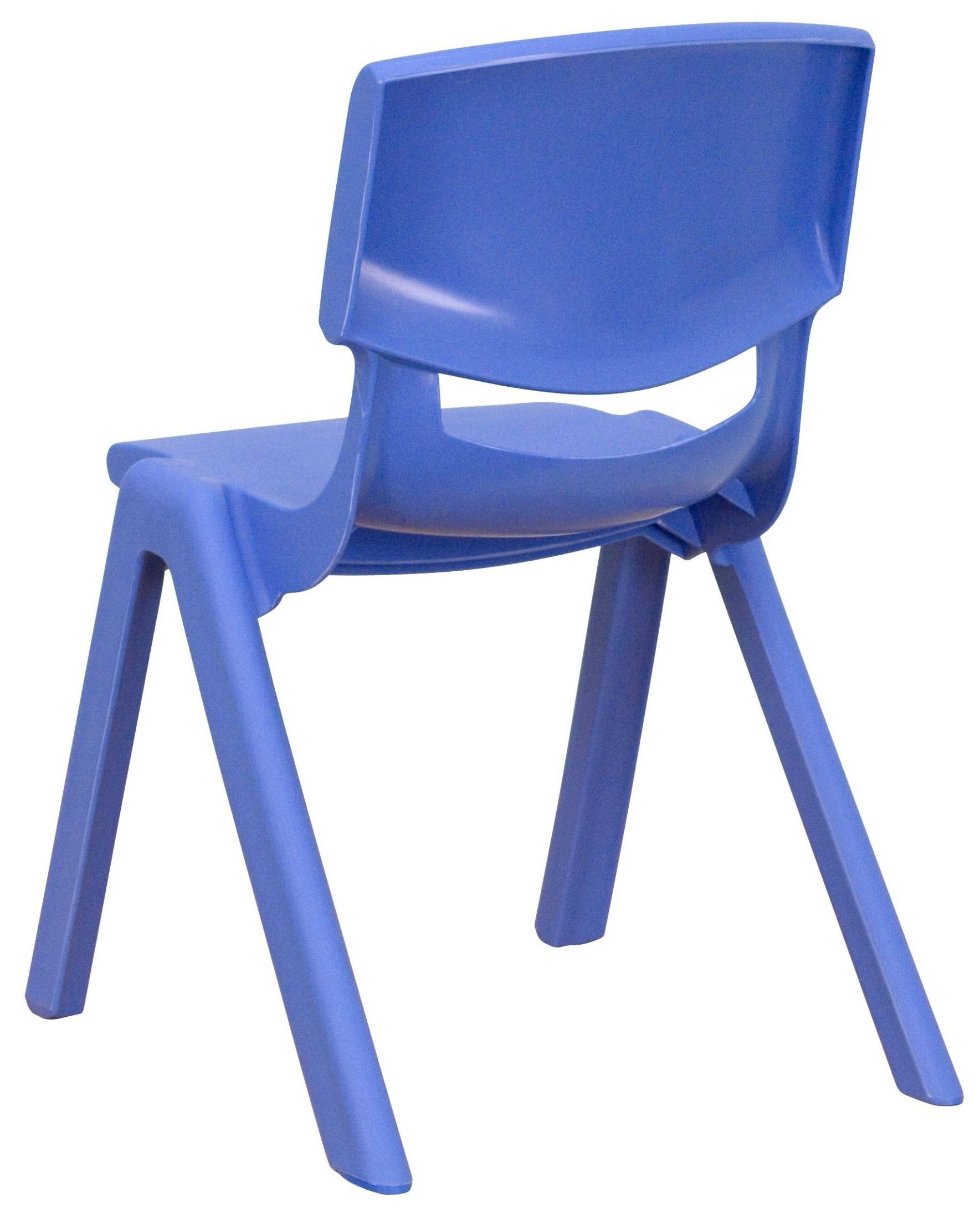22quoth blue plastic stackable school chair from renegade yu for Blue plastic chair
