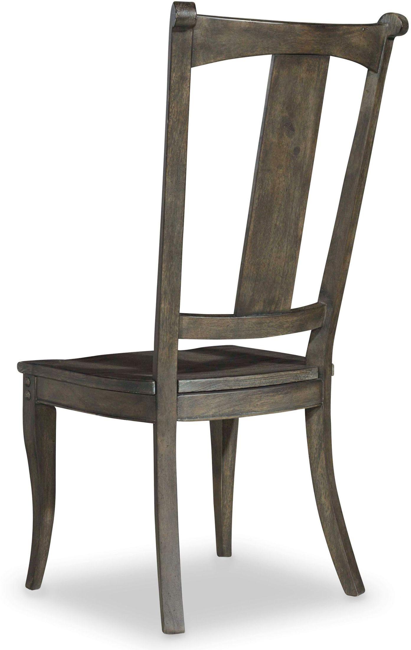 Vintage West Charcoal Gray Splatback Side Chair Set Of 2 5700 75310 Hooker
