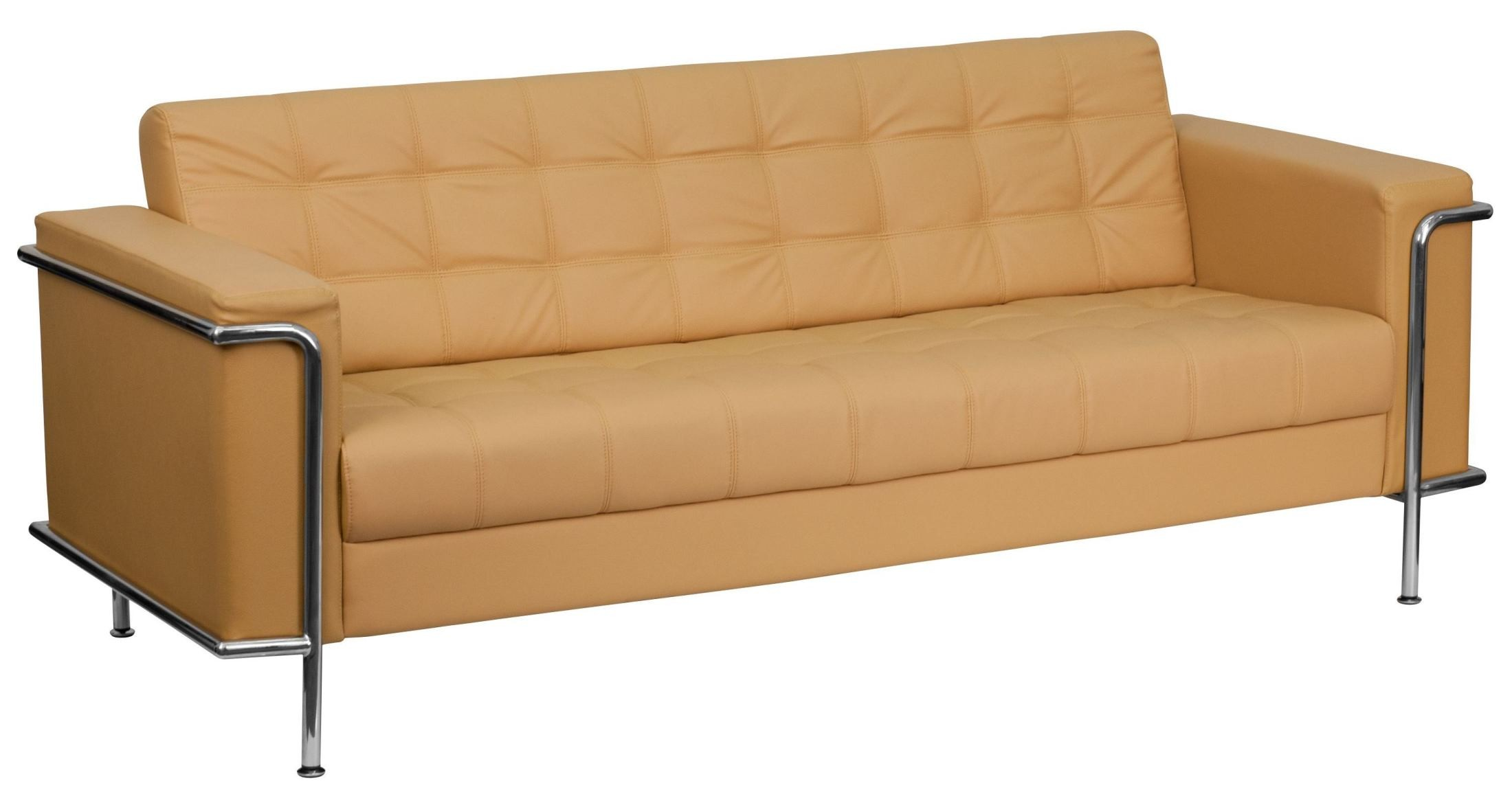 series light brown leather sofa from renegade coleman furniture