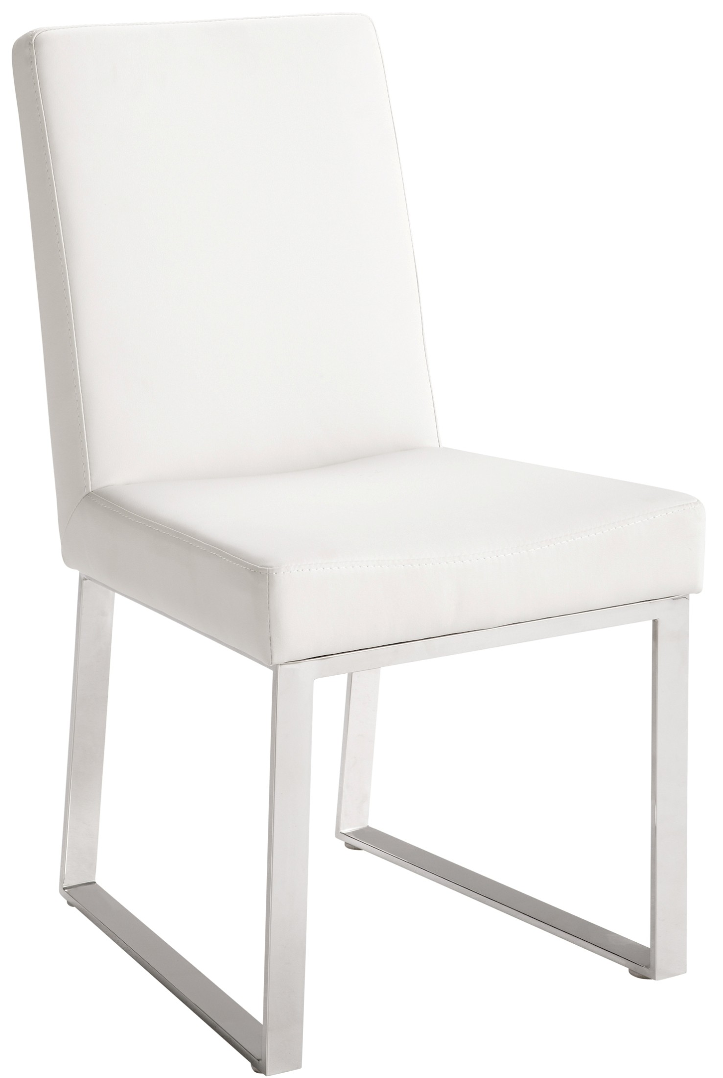Zeus white leather dining chair set of 2 for White leather dining chairs