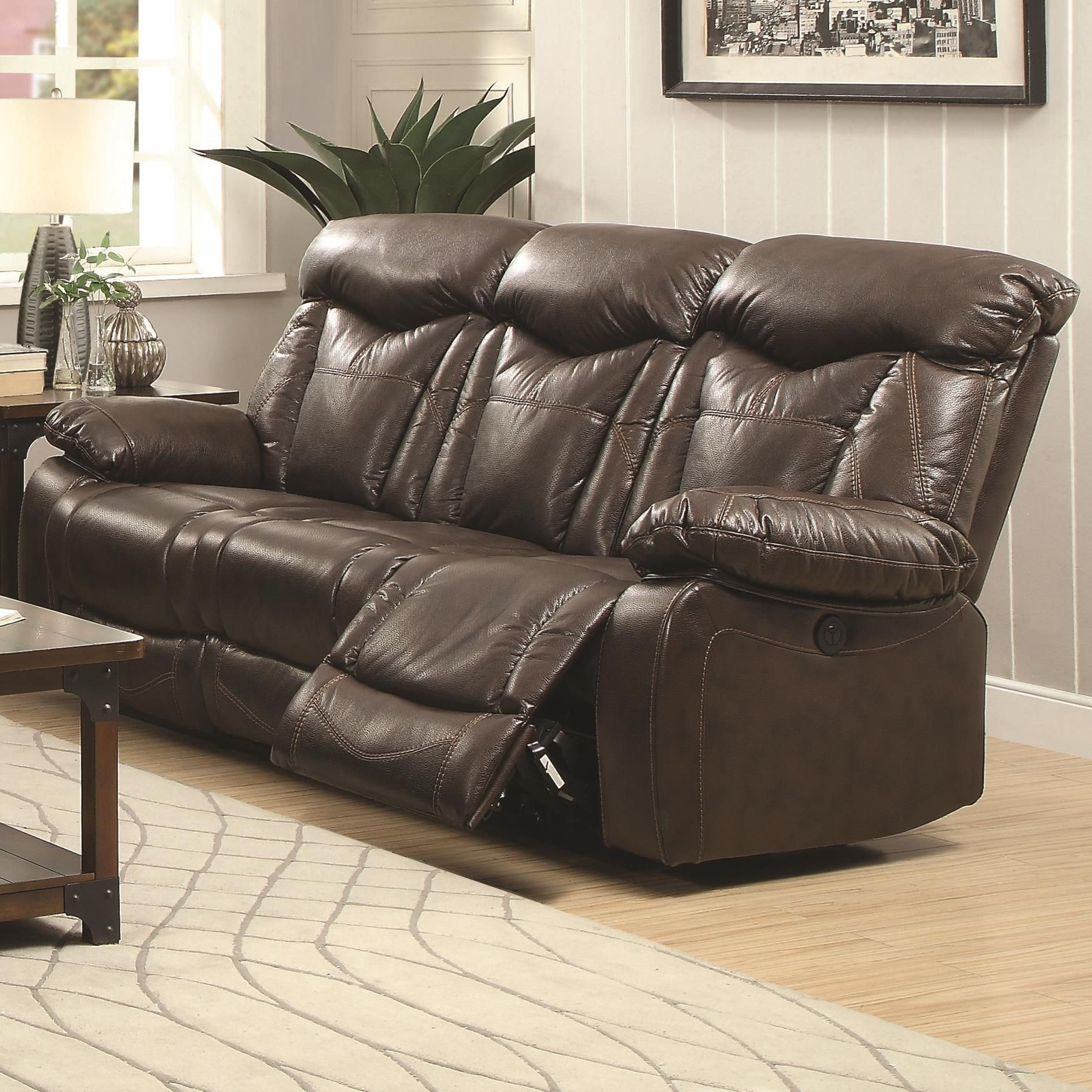 zimmerman power reclining sofa from coaster 601711p coleman