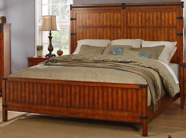 Industrial Brown Panel Bedroom Set ZIND 7001 7002 7003