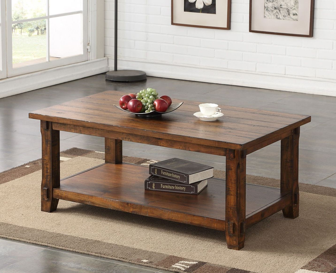 Restoration Brown Coffee Table Zrst 4200 Legends Furniture