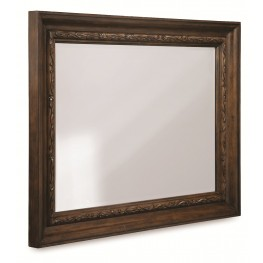 Chateaux Walnut Landscape Mirror