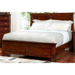 Tamarack Brown Cherry Twin Panel Bed