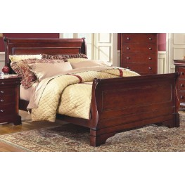 Versaille Bordeaux Cal. King Sleigh Bed