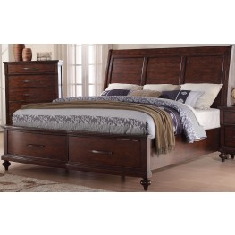 La Jolla Ranchero Brown Cal. King Sleigh Storage Bed