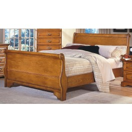 Honey Creek Caramel King Sleigh Bed