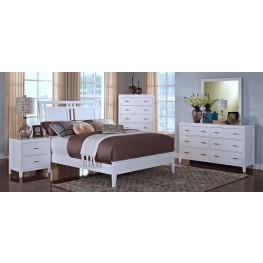 Selena White Sleigh Bedroom Set