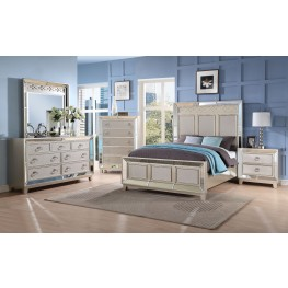 Stefano Silver Panel Bedroom Set