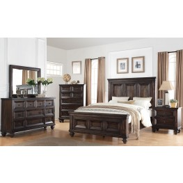 Sevilla Walnut Panel Bedroom Set