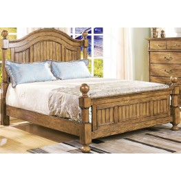 Cumberland Antique Pine Cal. King Poster Bed