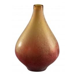 Vizio Yellow With Orange Medium Vase