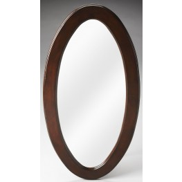 Mozart Plantation Cherry Oval Mirror