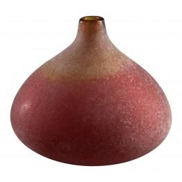 Vizio Yellow With Orange Small Vase