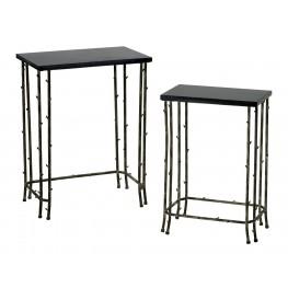 Bamboo Black Nesting Tables