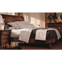 British Colonial Caribe Cal. King Sleigh Bed