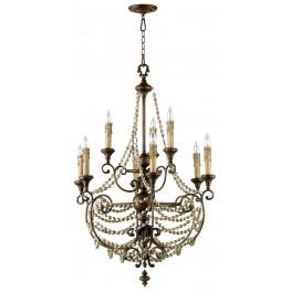 Meriel Antiqued Sienna 9 Light Chandelier