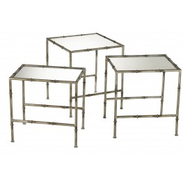 Bamboo Golden Nesting Tables