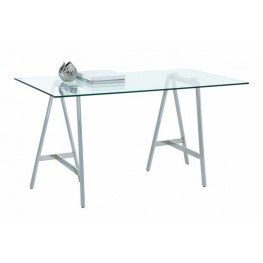 Ackler Glass Top Writing Desk
