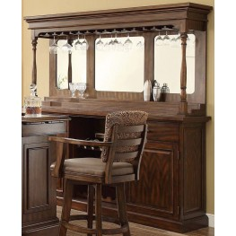 Trafalgar Square Walnut Deluxe Back Bar with Hutch