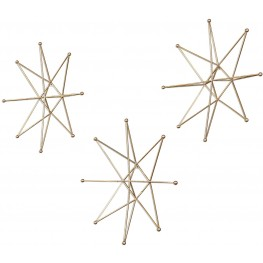 Gold Stars Wall Art Set of 6