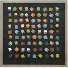 Color Black Blocks Shadow Box